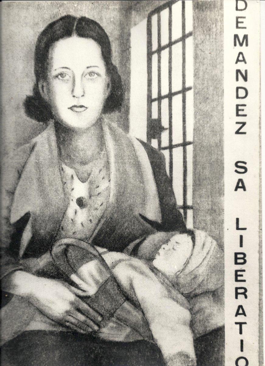 Cartão postal da Campanha Prestes distribuído na França e outros países da Europa exigindo a liberação de Olga e sua filha Anita Leocadia Prestes em 1936. Foto de Divulgação