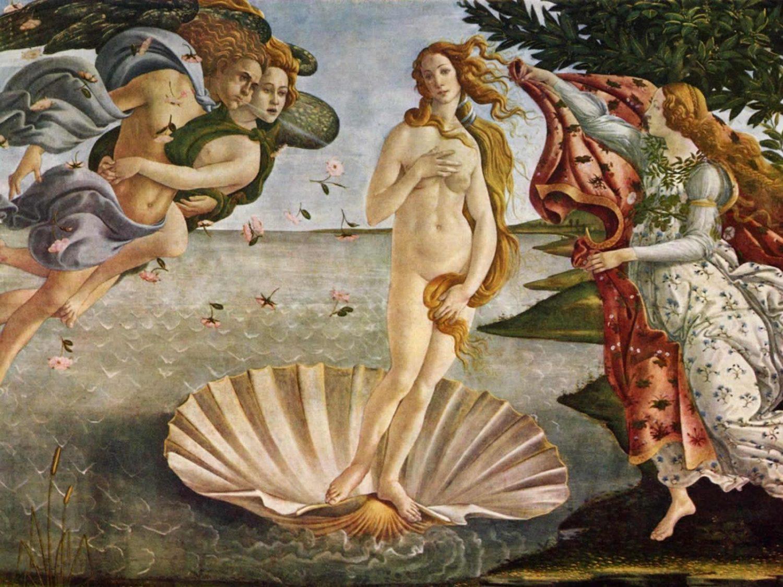 """""""O Nascimento de Vênus"""", de Sandro Botticelli, pintado em 1485. Foto reprodução"""