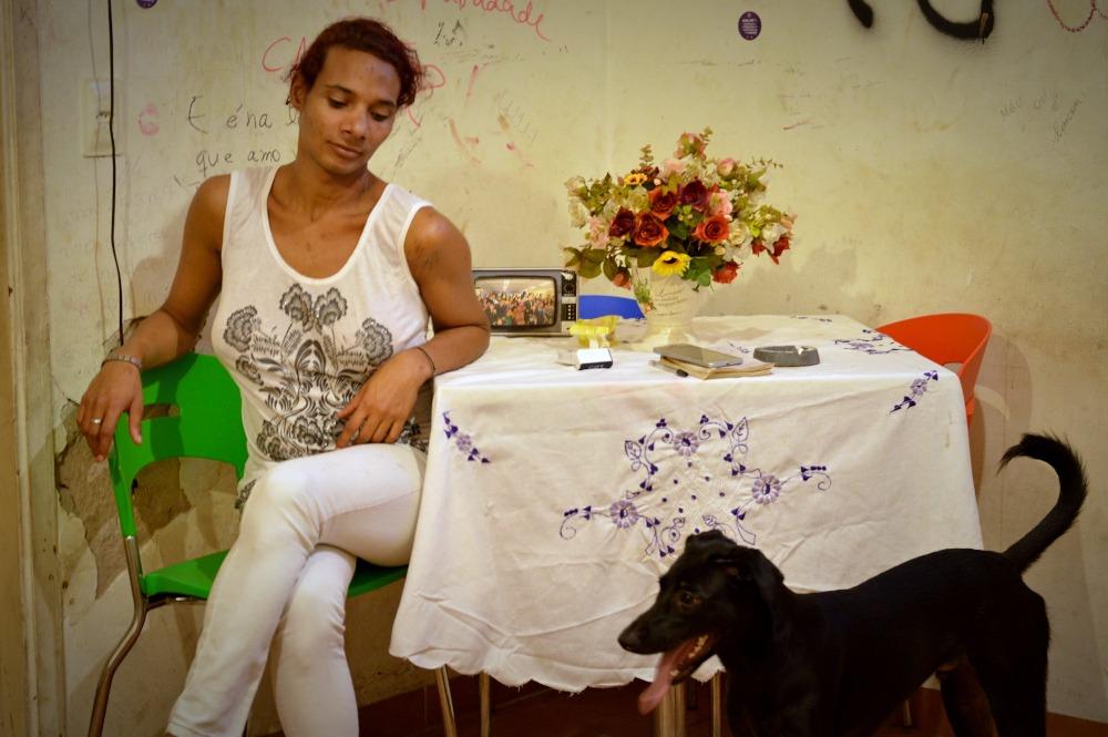 Jaqueline, de 24 anos, moradora da Casa Nem: ela vive lá há um ano e meio (Divulgação)