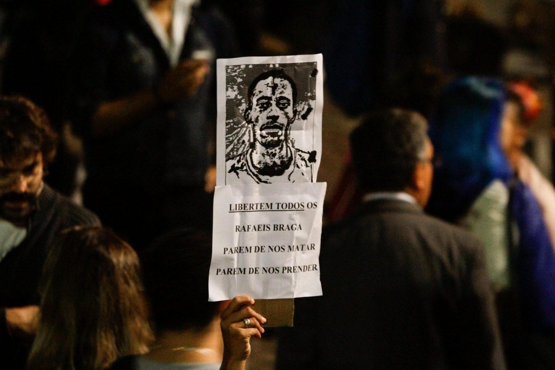 Campanha de solidariedade a Rafael Braga. FotoRua/ NurPhoto/ AFP