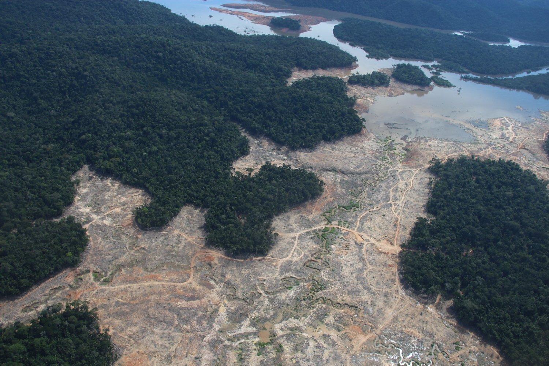 Área desmatada na Amazônia próxima ao Parque Nacional de Juruena. Foto Isaac Risco-Rodriguez/DPA