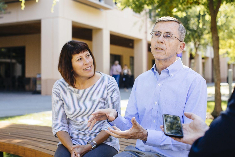 Os professores Tom Wurster e Sarah Soule, da Stanford Graduate School of Business. Foto Elena Zhukova