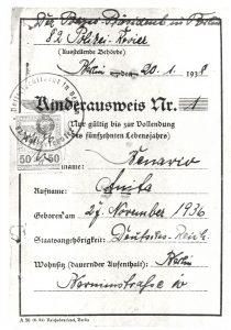Documento atestando o nome de Anita. Foto de Divulgacao