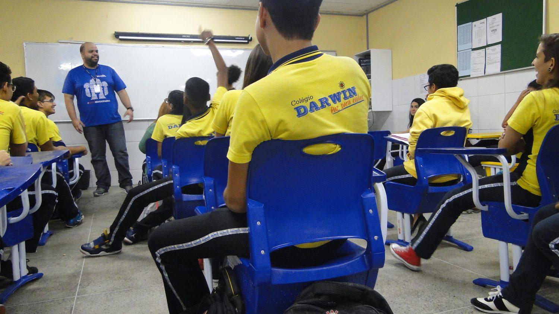 No colégio Darwin, em Fortaleza, não há evasão no ensino médio (Foto Levi de Freitas)