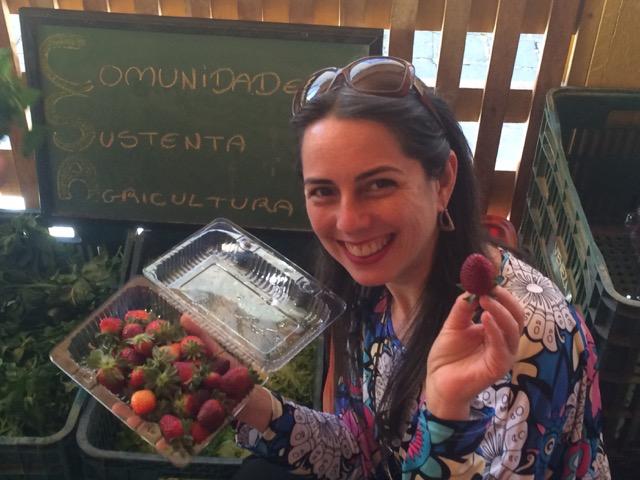 Tânia é uma entusiasta das CSAs: mais do que consumo, uma filosofia (Foto Luciana Cabral)