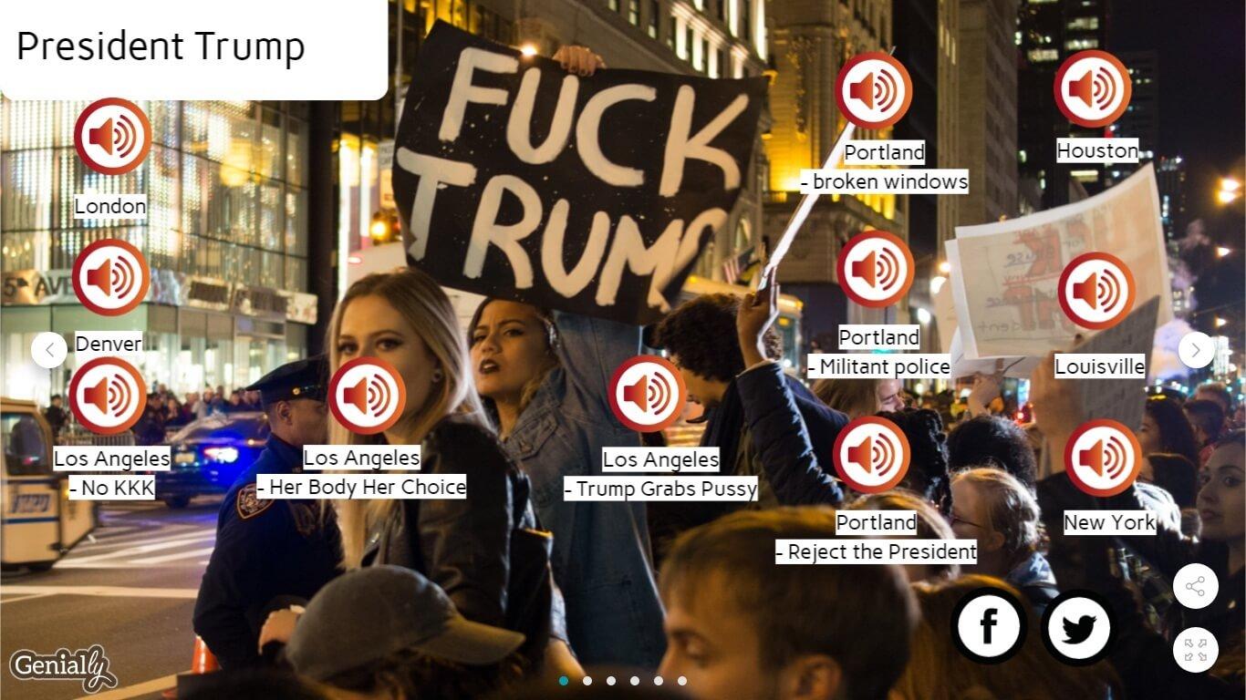 Os sons das manifestações contra Donald Trump ao redor do mundo. Foto Reprodução