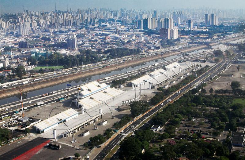 O Sambódromo do Anhembi: projeto de Oscar Niemeyer. Foto de divulgação