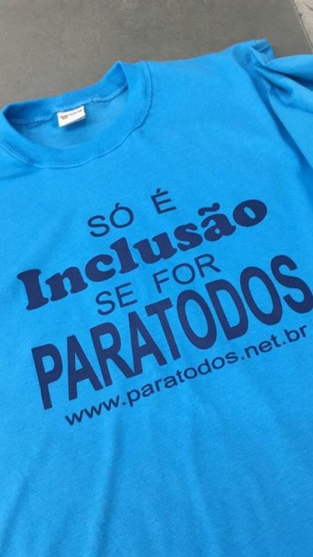 A camiseta do Prêmio Paratodos de Inclusão Escolar. Divulgação