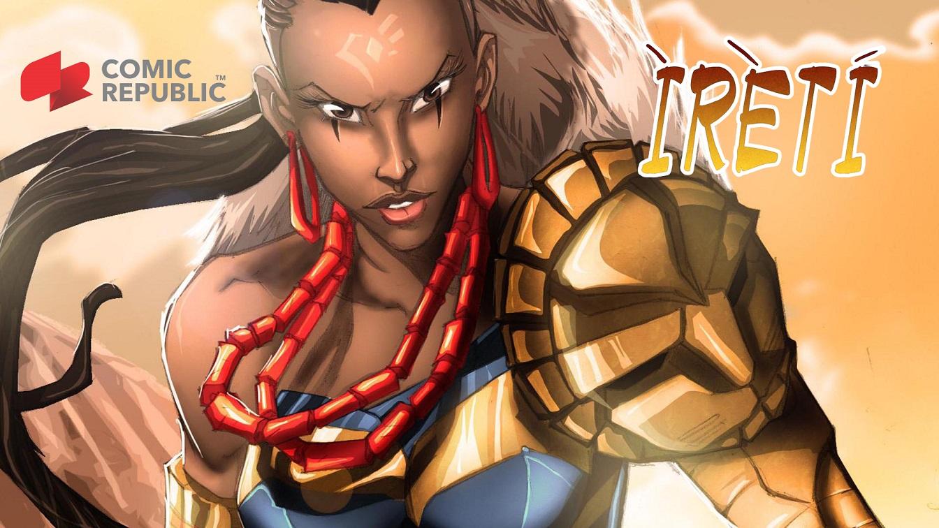 A jovem Ireti, mais um personagem famoso da Comic Republic. Foto Divulgação