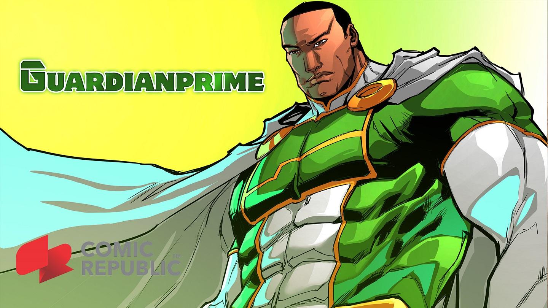 Guardianprime, um dos heróis dos quadrinhos da Comic Republic. Foto Divulgação