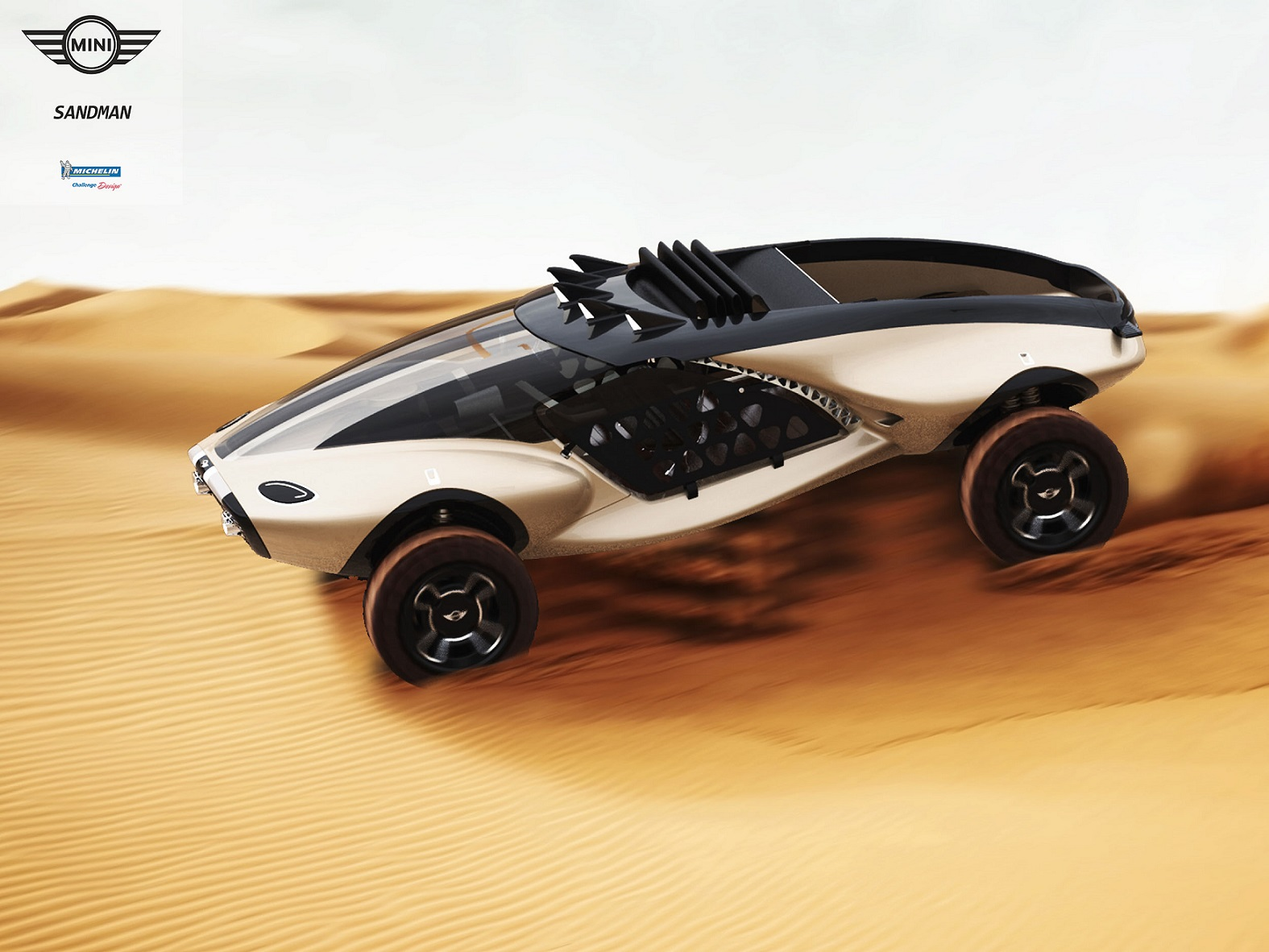 Um dos utilitários do futuro, numa versão feita por designers para o concurso promovido pela francesa Michelin. Foto Divulgação