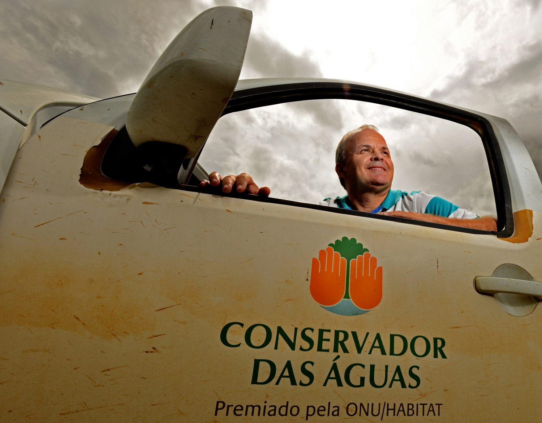 Secretario de Meio Ambiente de Extrema, Paulo Henrique Pereira. Foto de Mirian Fichtner