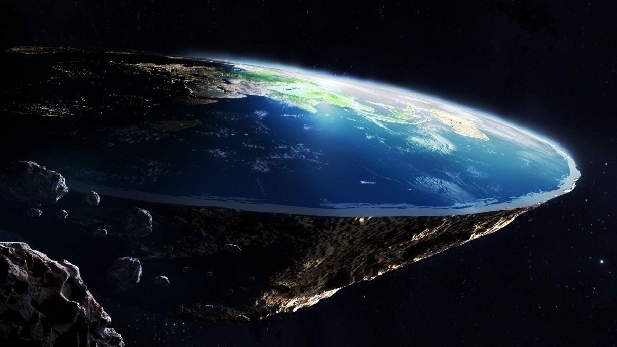 A fé dos terraplanistas está baseada num fato indiscutível: a burrice. Ilustração