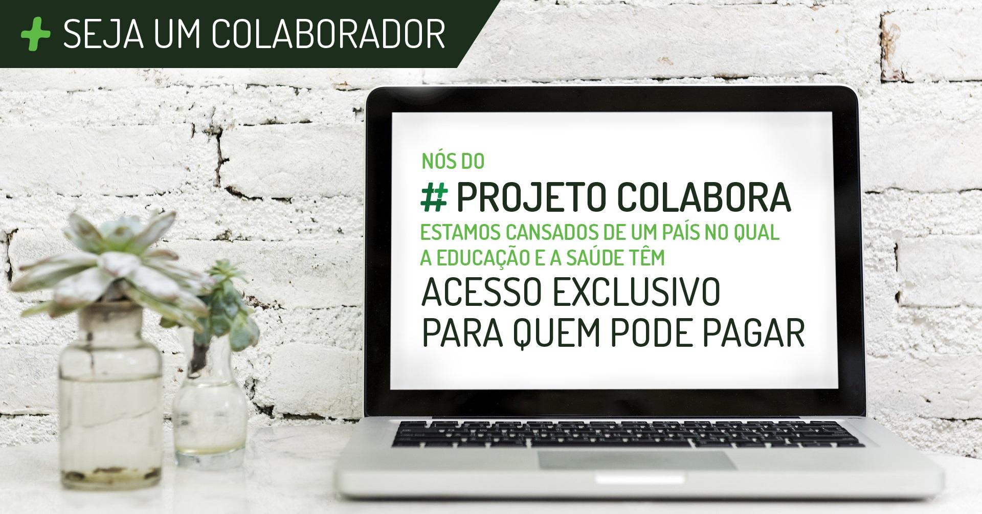 """Uma das peças da campanha """"Apoie o #Colabora"""" que estará circulando pelas redes sociais. Reprodução"""