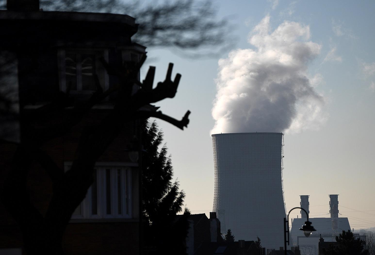 Usina termelétrica a gás, em Bruxelas, na Bélgica. Foto Emmanuel Dunand/AFP