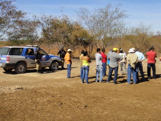 Comunidade de Cotegipe encontra a polícia: quem resistiu sofreu ameaças (Foto de divulgação)