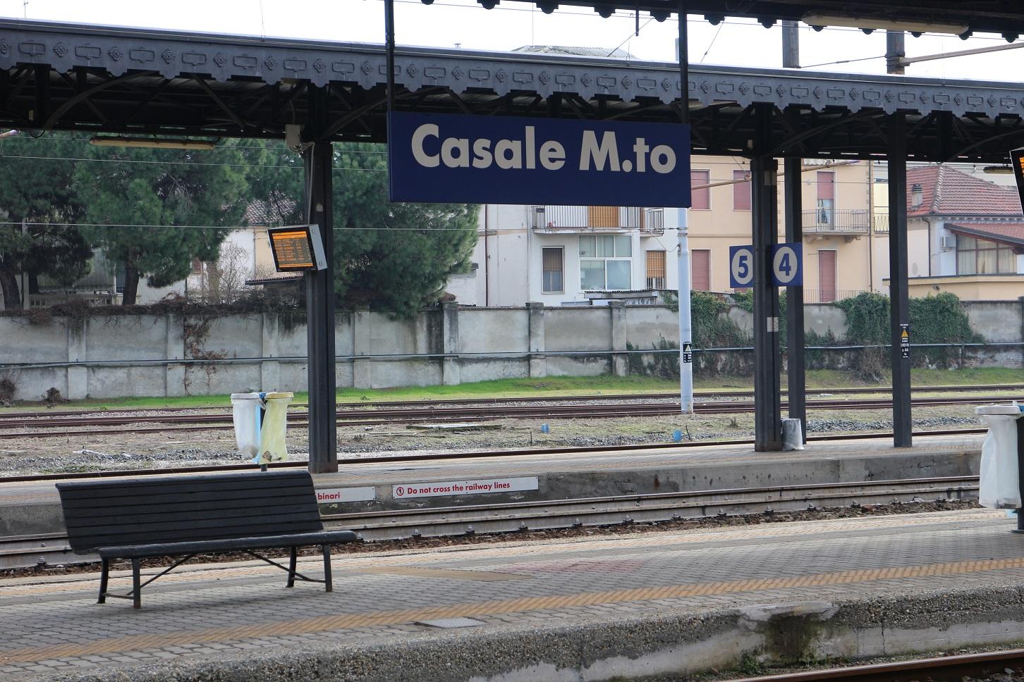 A estação de trem de Casale Monferrato, uma das sedes da Eternit na Itália. Foto Janaína Cesar