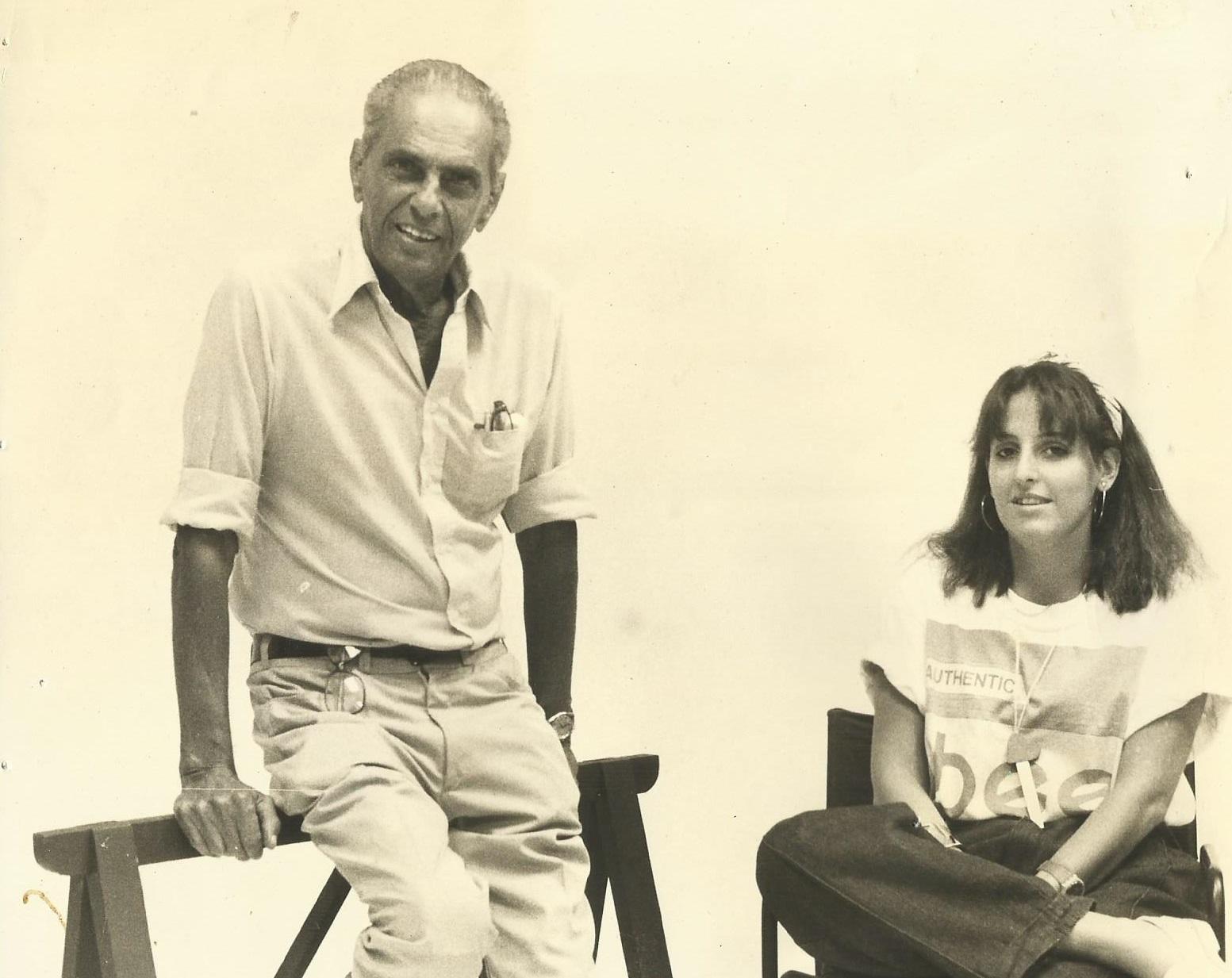 O ícone João Saldanha e Mariucha: jjovem repórter recebeu elogio do veterano (Foto arquivo pessoal)