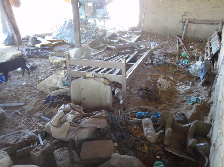 Casas de agricultores destruídas em 2010: segundo ONG ação foi de pistoleiros (Foto de divulgação)