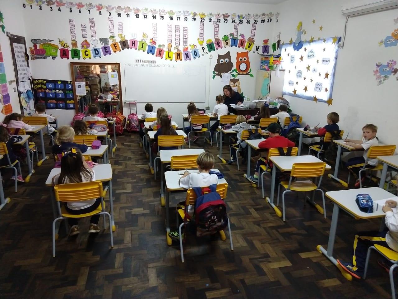 A Escola Municipal Professor José Boeing funcionou normalmente ontem. Foto Divulgação