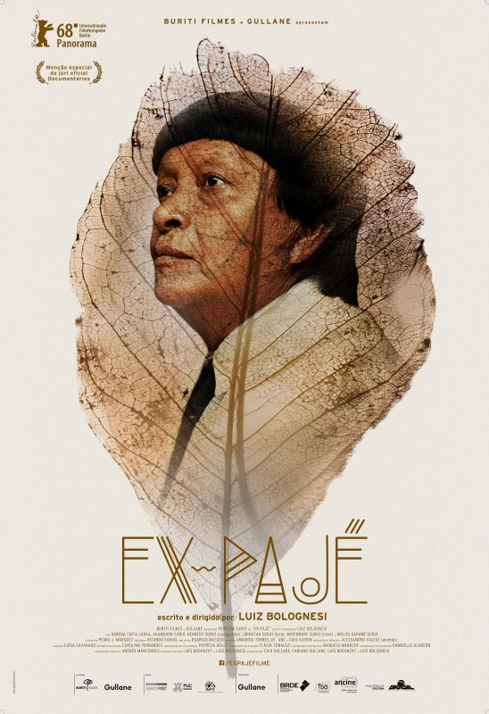"""Cartaz do filme """"Ex-Pajé"""", de Luiz Bolognesi. Divulgação"""