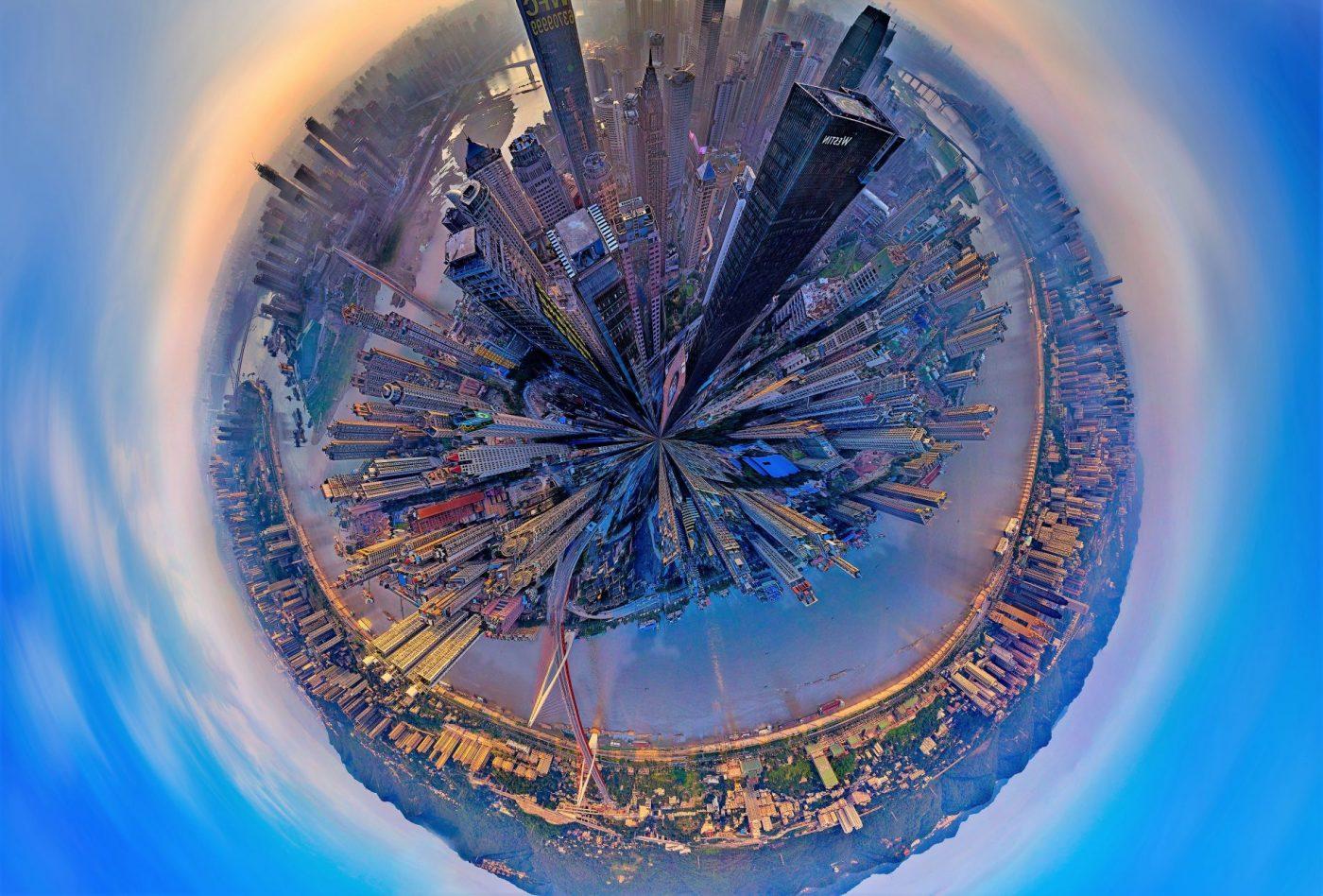A cidade do futuro. Foto: Zhou zhiyong/Imaginechina/ AFP
