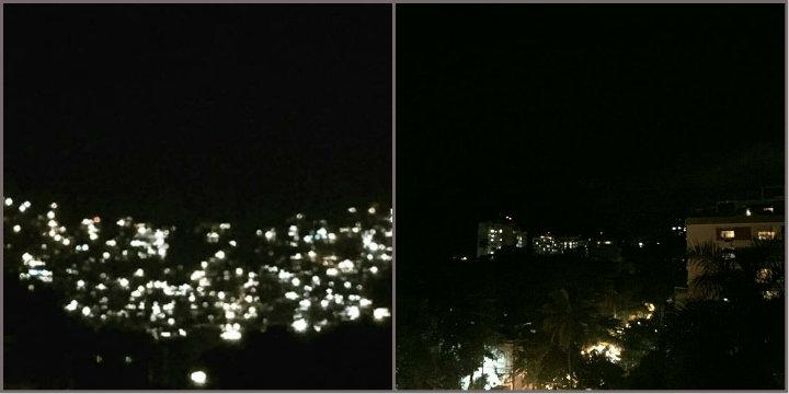 A Rocinha iluminada e apagada pelos tiros (Fotos Edu Carvalho)