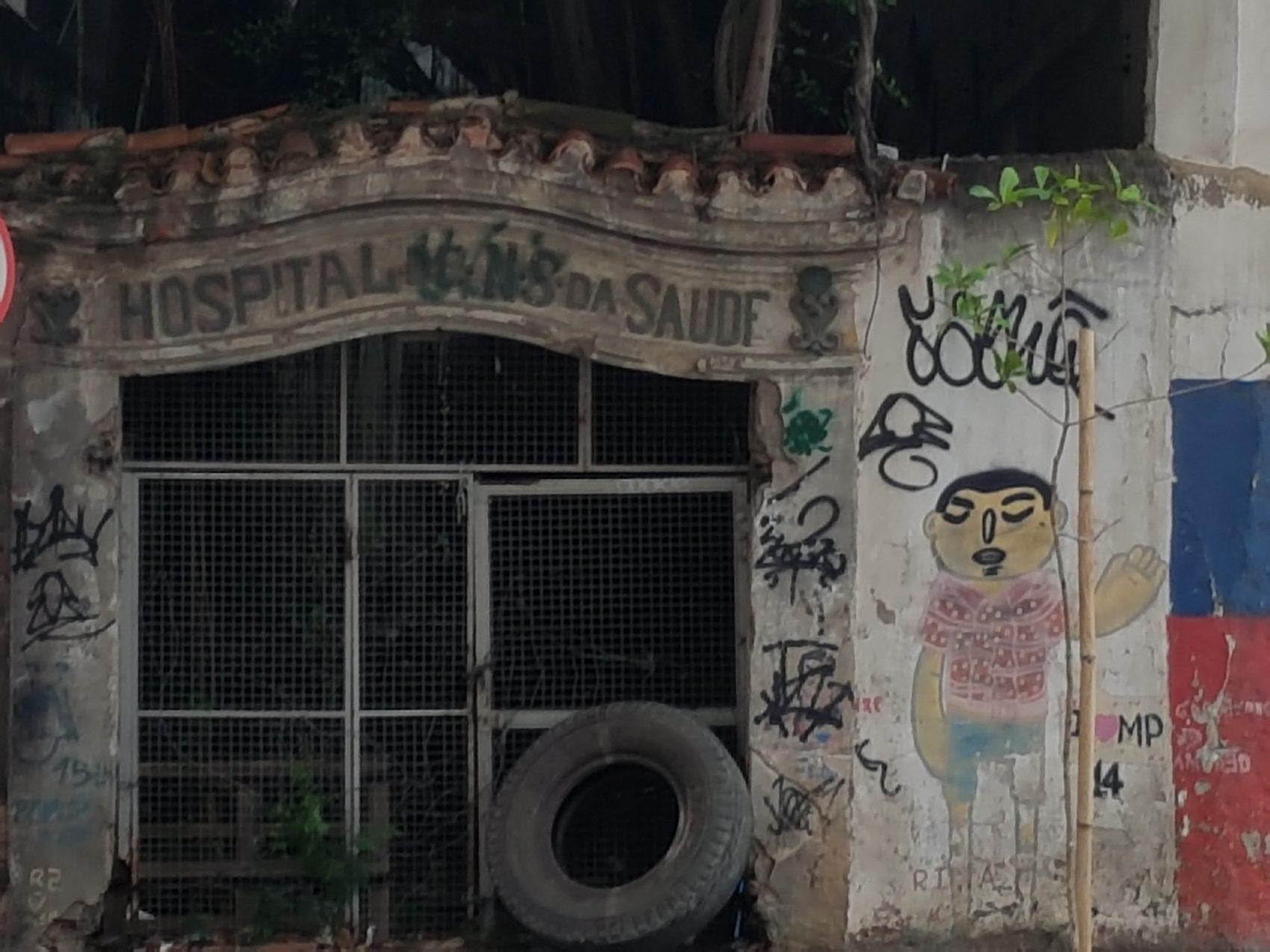 Hospital dos Ingleses, sobras do mtempo de Machado (Foto Oscar Valporto)