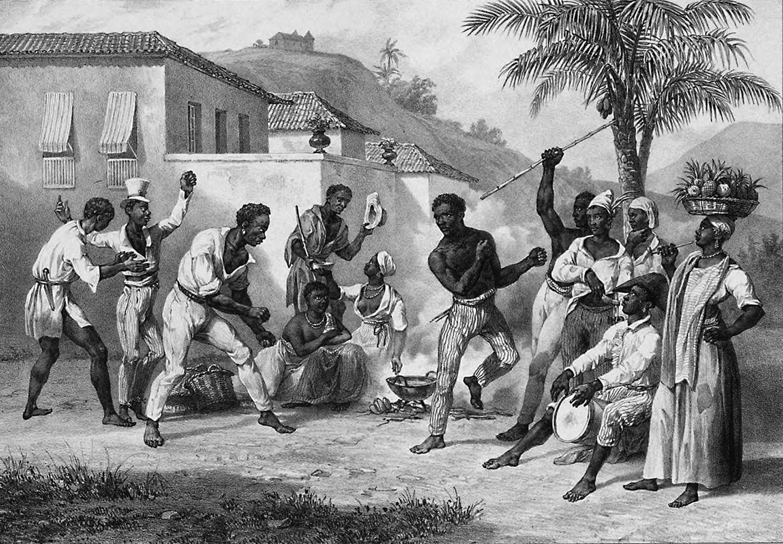 """O famoso quadro """"Capoeira"""", de Johann Moritz Rugendas, pintado em 1835. Foto Reproducao"""