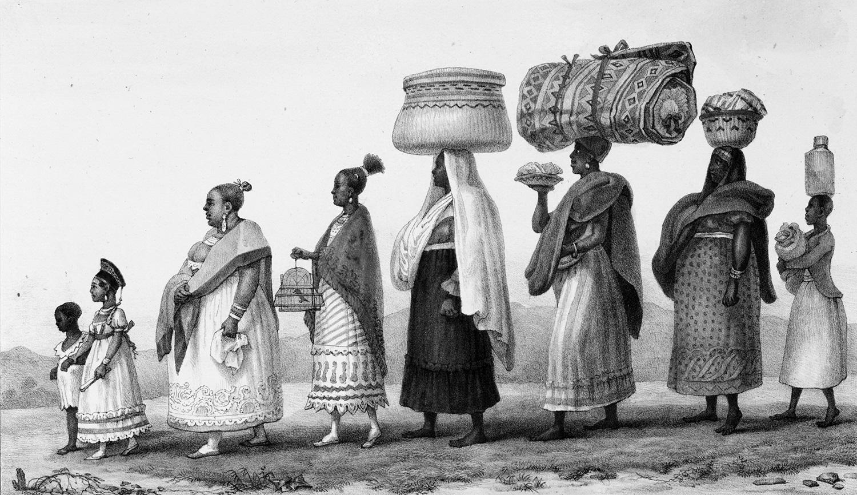 """O quadro """"Negra Livre Rica"""", do francês Jean-Baptiste Debret. Foto Reprodução"""