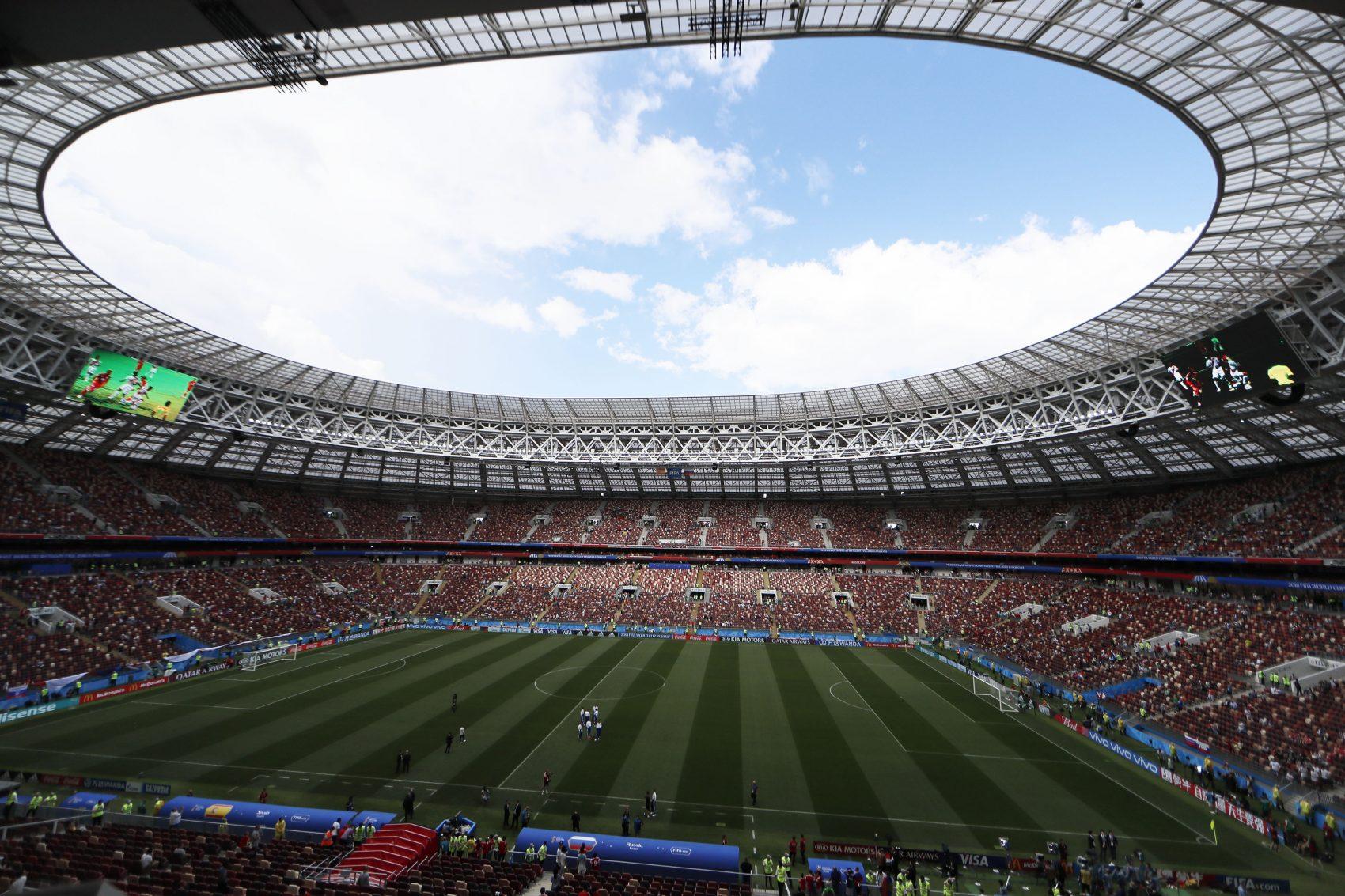 Estádio Luzhniki, em Moscou, um dos legados da Copa 2018 (Foto: Javier Garcia Martino/Mexsporto/AFP)