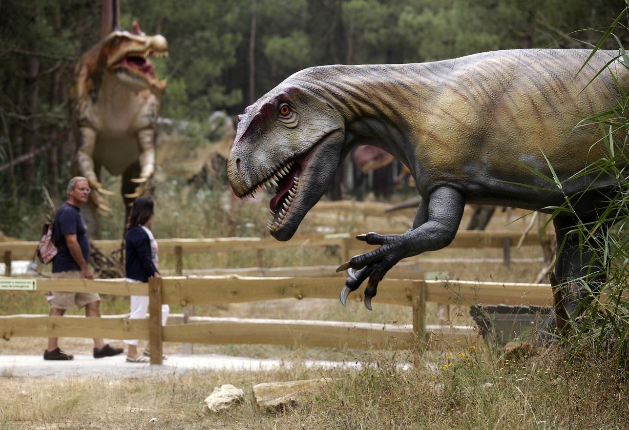 O Dino Park, um museu ao ar livre, em Portugal. Foto José Manuel Ribeiro/AFP