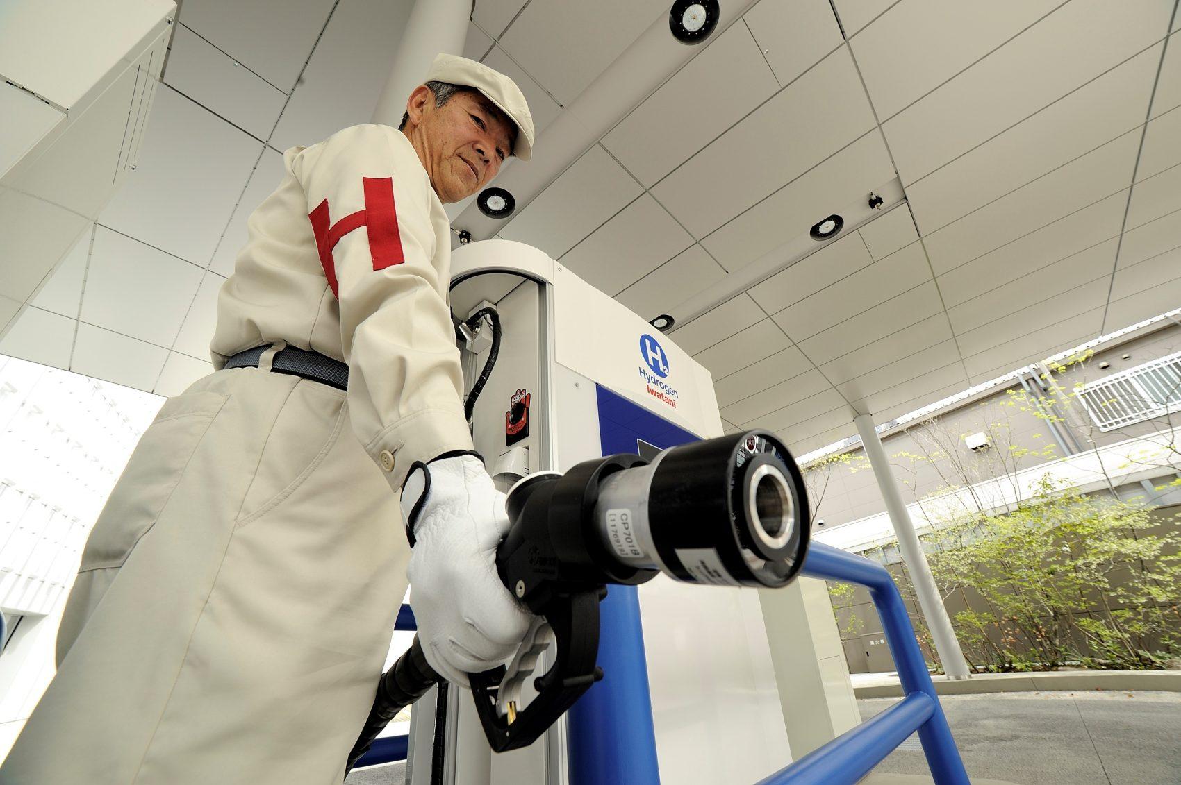 Ponto de abastecimento de hidrogênio em Tóquio David Mareul/Anadolu Agency/AFP