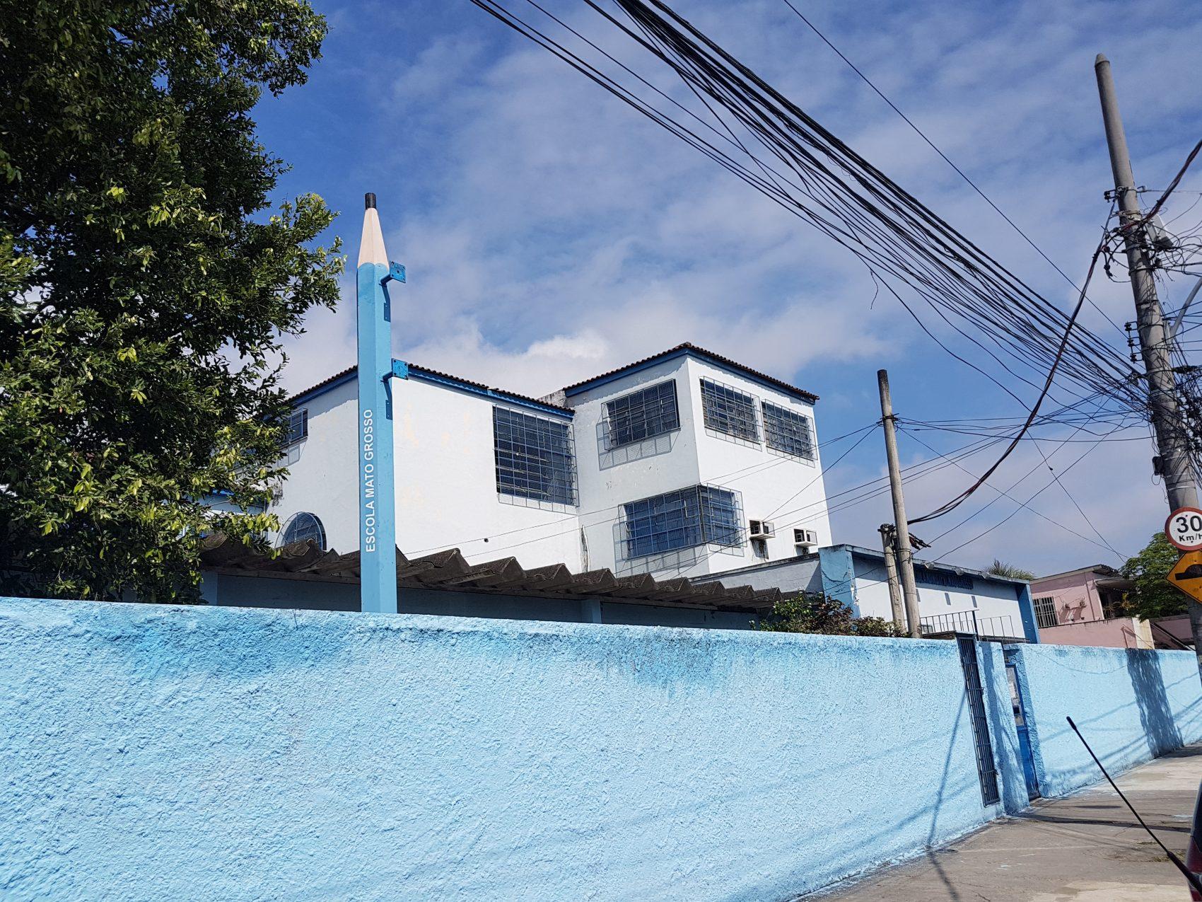 A Escola Municipal Francisco Sertorio Portinho, onde estudou Flavia Oliveira (Foto Oscar Valporto)