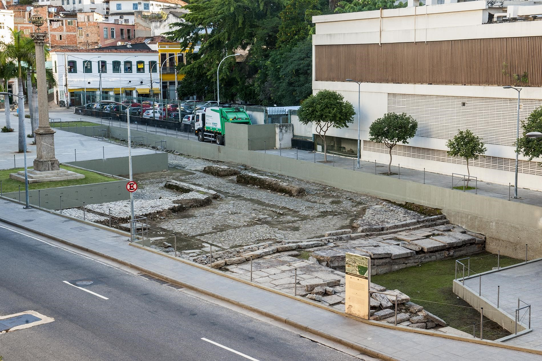 Sítio Arqueológico do Caís do Valongo. Foto Iphan