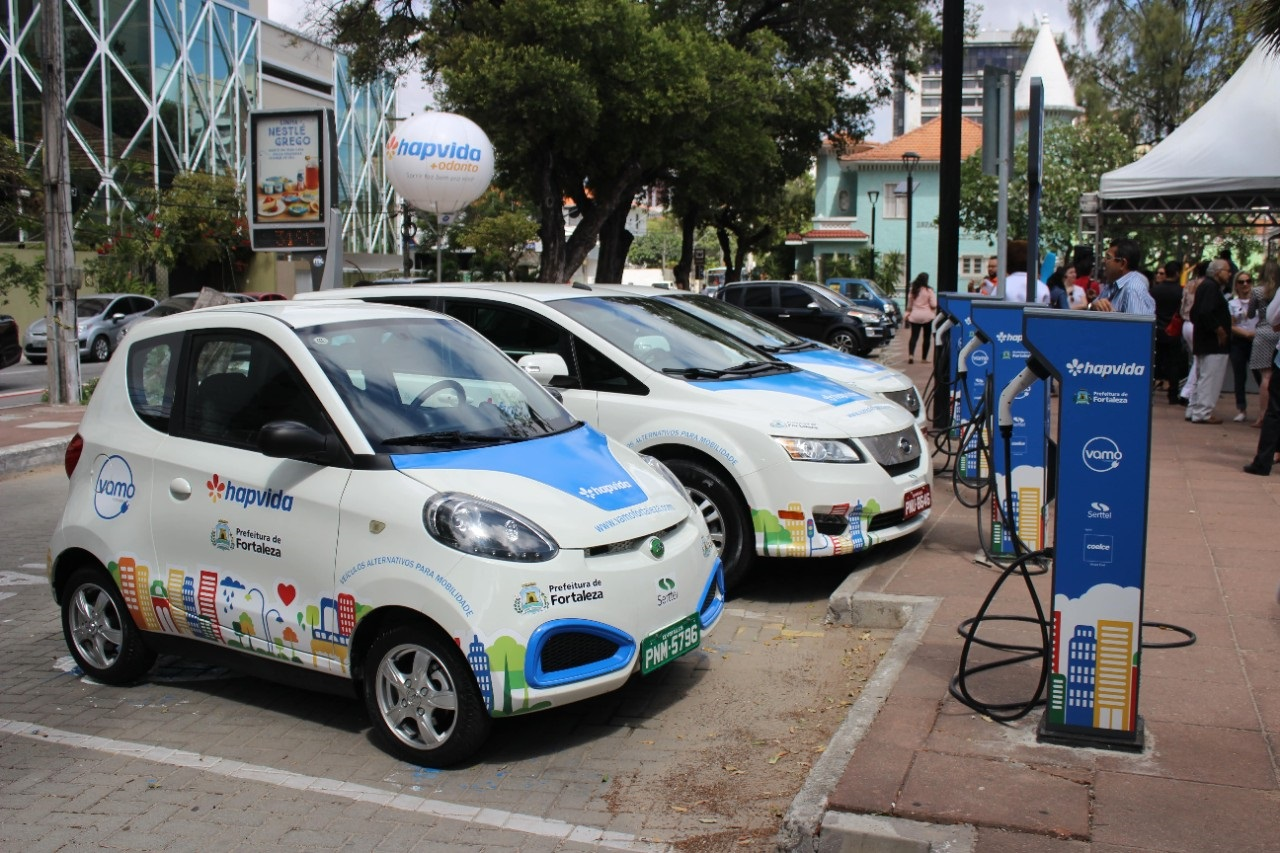 O inovador programa de compartilhamento Vamo ( Veículos Alternativos para a Mobilidade), que funciona em Fortaleza. Foto Divulgação