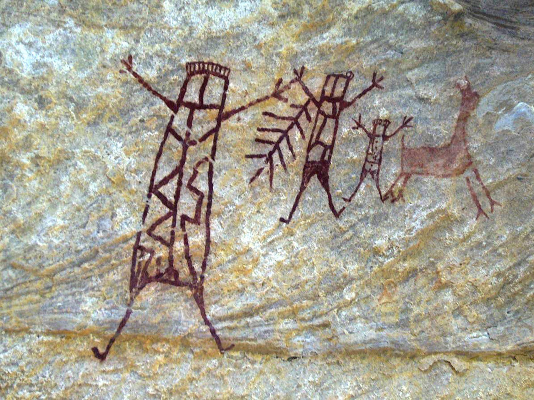 Pinturas rupestres datadas de 50 mil anos atrás estão no parque (Joaquim Neto / FUMDHAM / AFP)