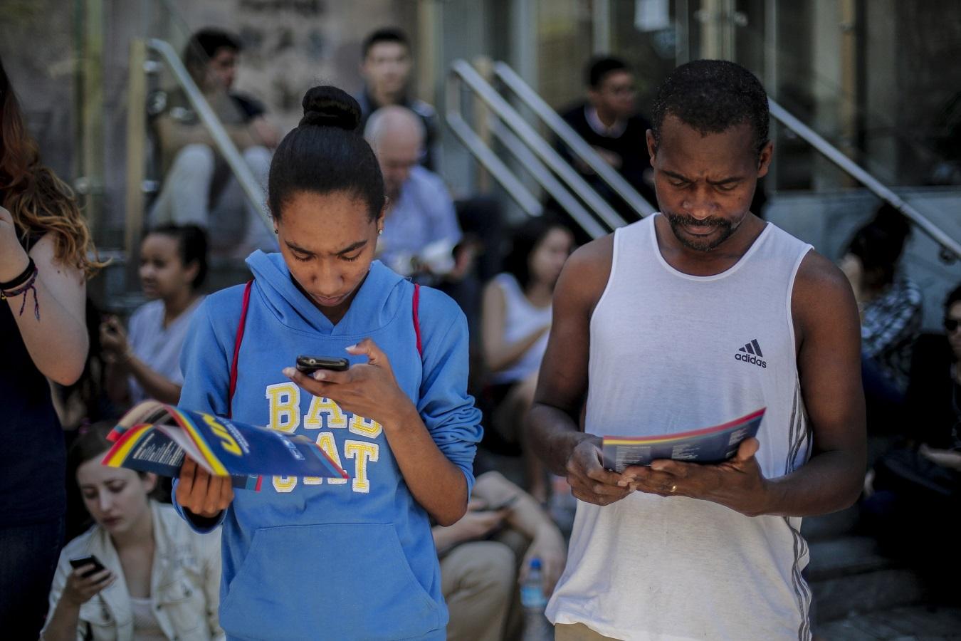 Candidatos se preparam para a prova do ENEM, em Sâo Paulo. O último Censo da Educação Superior contabilizou 8,6 milhões de matrículas em universidades. Foto Suamy Beydoun/AGIF