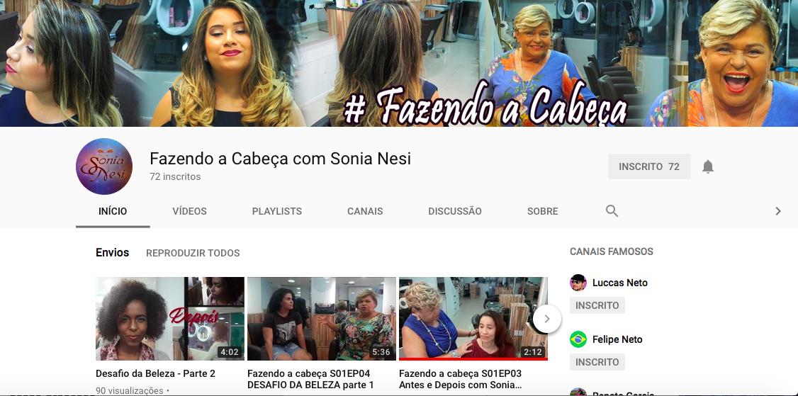 Sonia, de 70 anos, tem um canal sobre beleza no YouTube (reprodução)