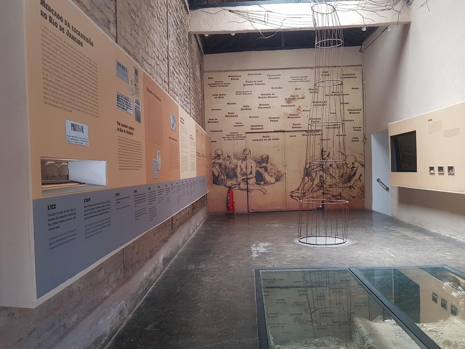 Instituto dos Pretos Novos, onde foram encontrados, a partir de 1994, restos mortais de centenas de escravos que morreram na travessia do Atlântico. Foto Oscar Valporto