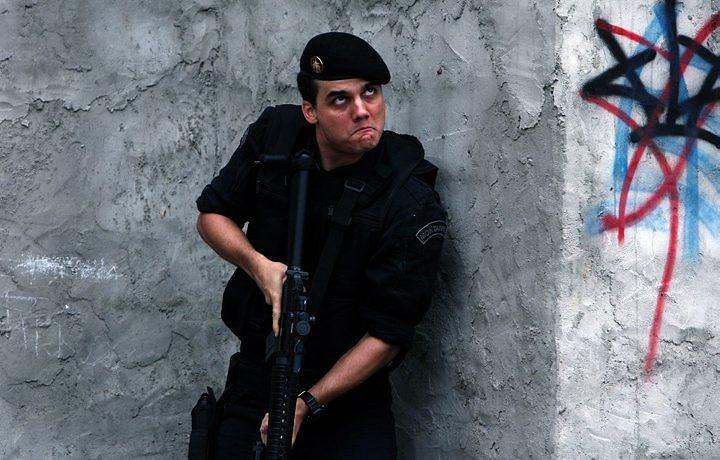 O Capitão Nascimento de Wagner Moura: paixão nacional pela violência glamurizada. Foto de divulgação