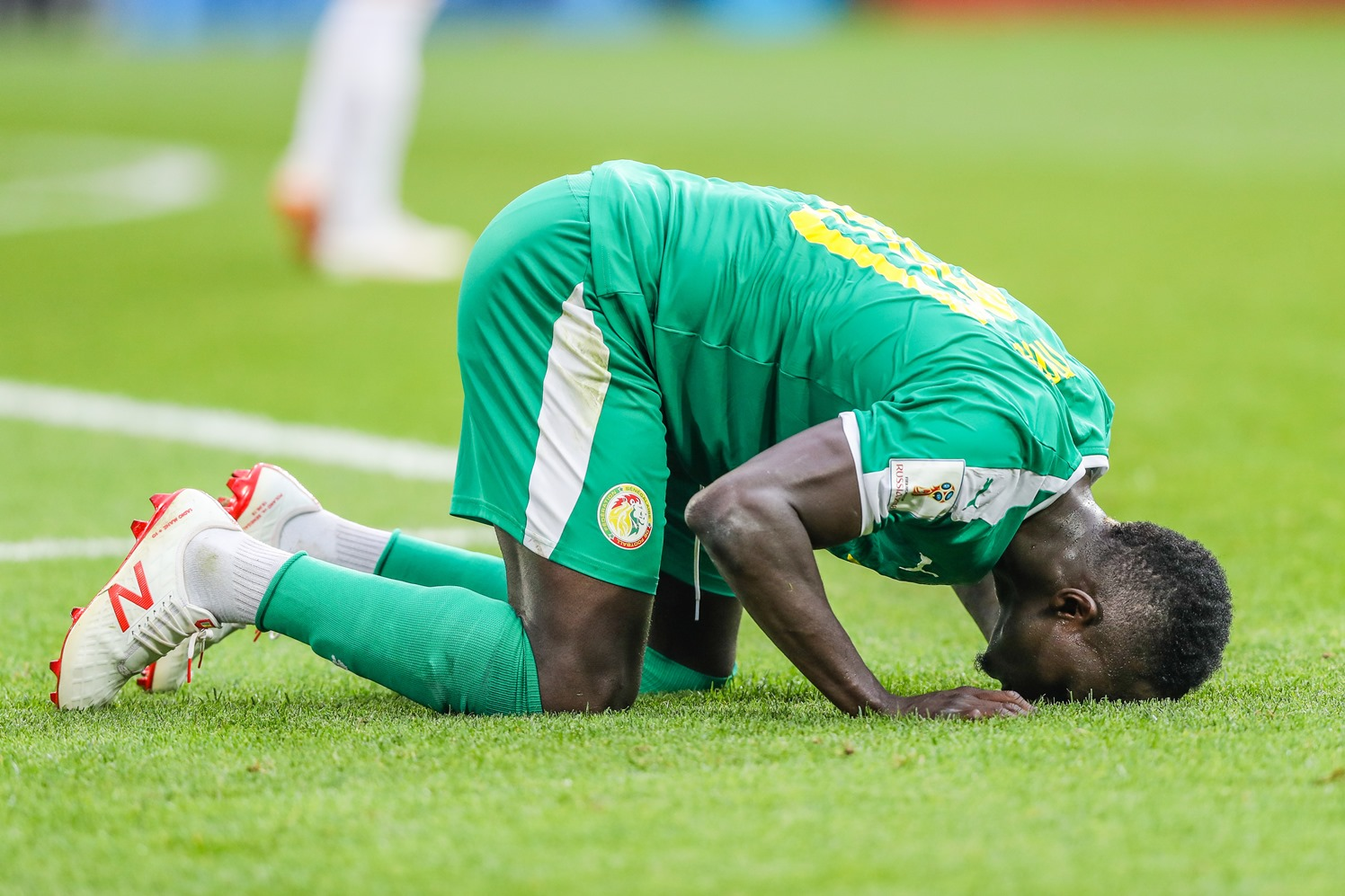 O atacante Mane, astro da seleção do Senegal, na vitória sobre a Polônia. Foto de William Volcov (Brazil Photo Press)