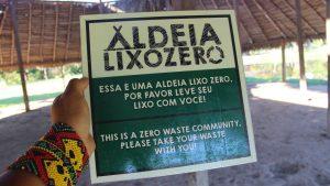 Cartaz do projeto Aldeia Lixo Zero. Foto de Divulgacao
