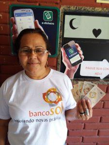 Maria Magdalena Câneva, do Banco Sol. Foto de Liana Melo