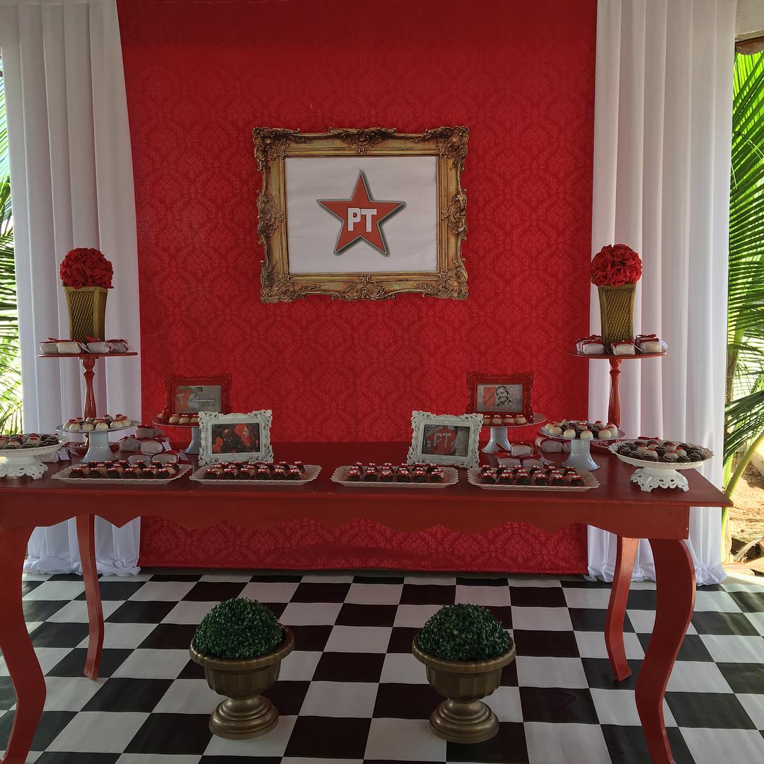 A festa surpresa do PT preparada pela empresa Xinica Bacana para uma cliente que quis surpreender o marido (Foto: Divulgação)
