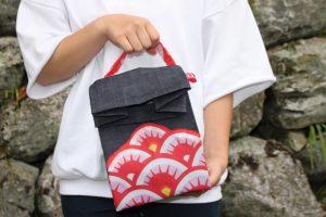 Kimono é transformado em bolsa. Foto de Divulgacao