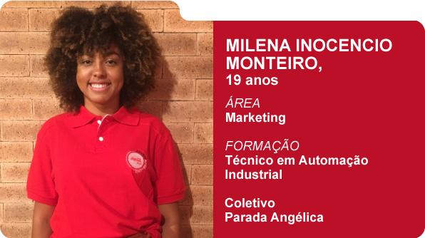 Milena Inocencio Monteiro (Foto: Recursos Humanos Coca-Cola Brasil)