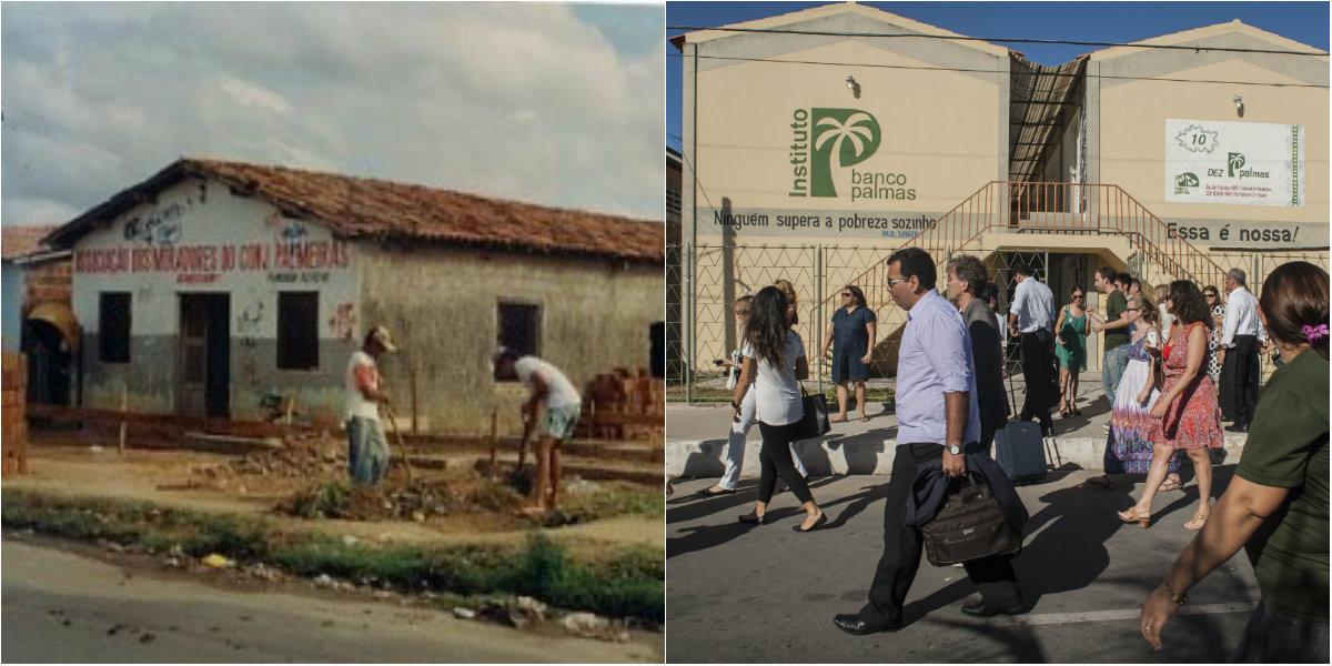 Banco Palmas, antes e depois. Foto de Divulgacao