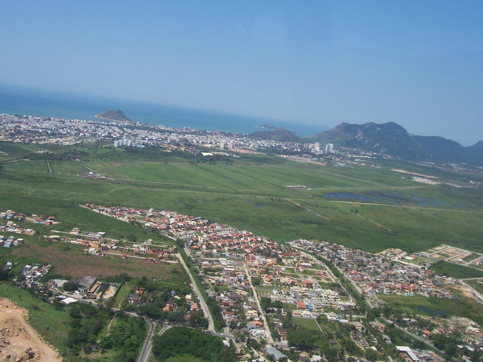 Vista área da região de Vargem Grande e Vargem Pequena. Foto Divulgação/Canagé Vilhena