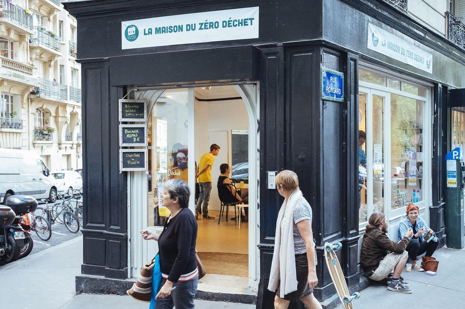 nauguração da Casa Lixo Zero, em Paris. Foto DENIS MEYER / HANS LUCAS